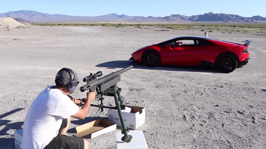 Would You Let Someone Fire A Cannon Through Your Lamborghini?