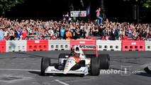 Stoffel Vandoorne, McLaren, drives a 1991 McLaren MP4/6