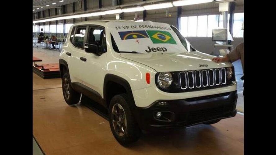 Direto de Goiana: este é o primeiro Jeep Renegade feito no Brasil!