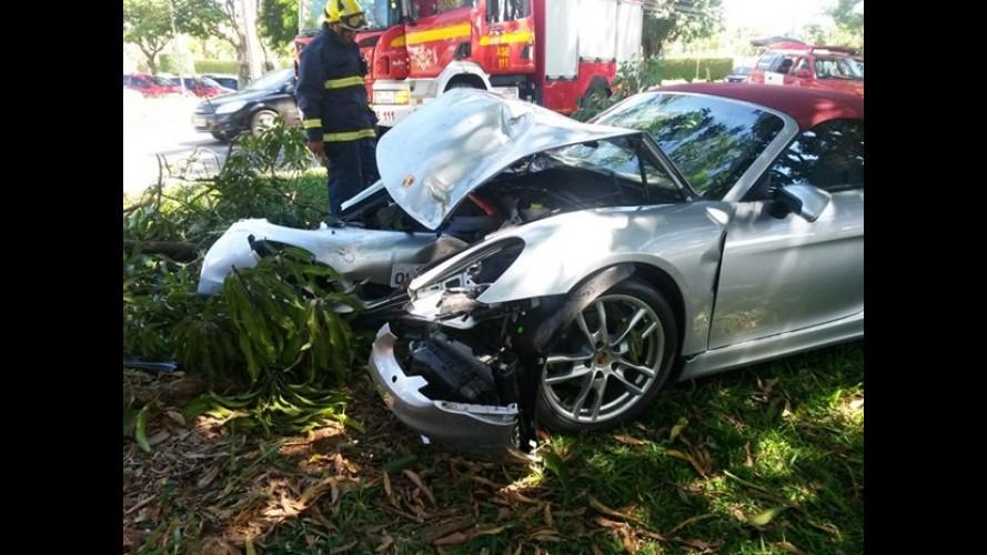 Filho destrói Porsche Boxster do pai com apenas três dias de uso no DF