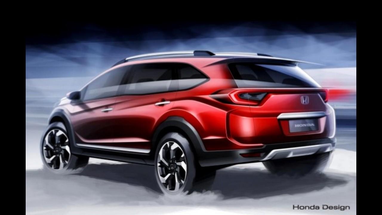 Flagra: SUV de 7 lugares, Honda BR-V aparece sem disfarces antes da estreia
