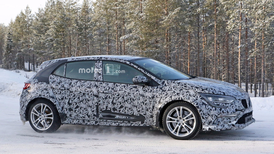 2018 Renault Megane RS spied testing underneath GT body