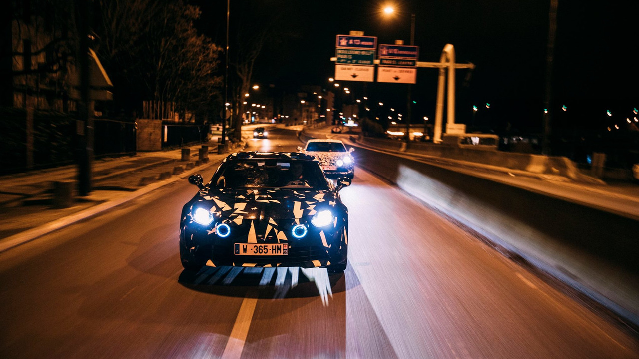 Alpine prototypes Paris night ride