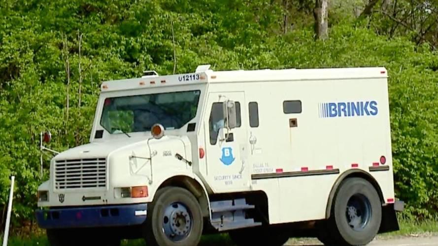 Armored Truck Loses $600K After Rear Door Flies Open On Highway