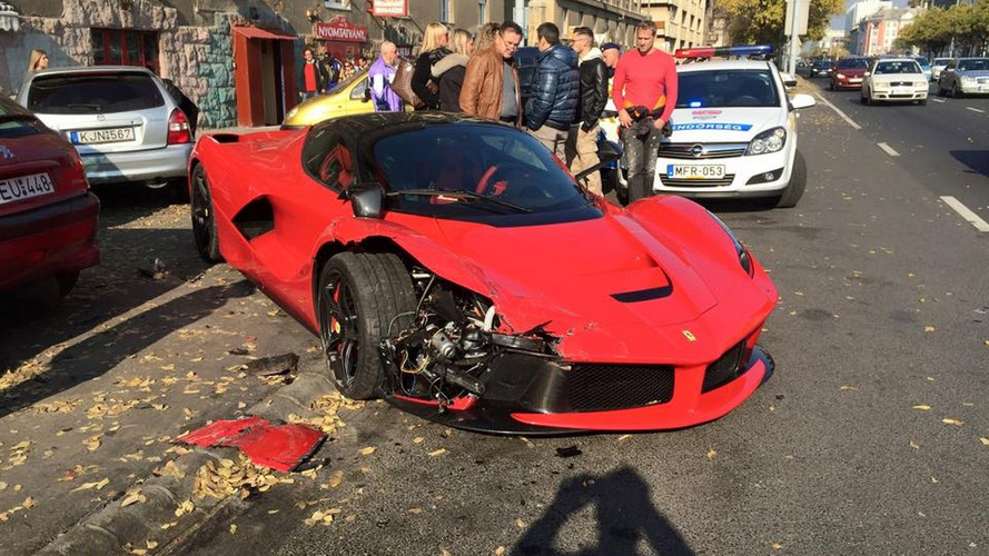 LaFerrari driver hits three parked cars in Budapest