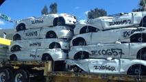 Crushed BMW ActiveE prototypes