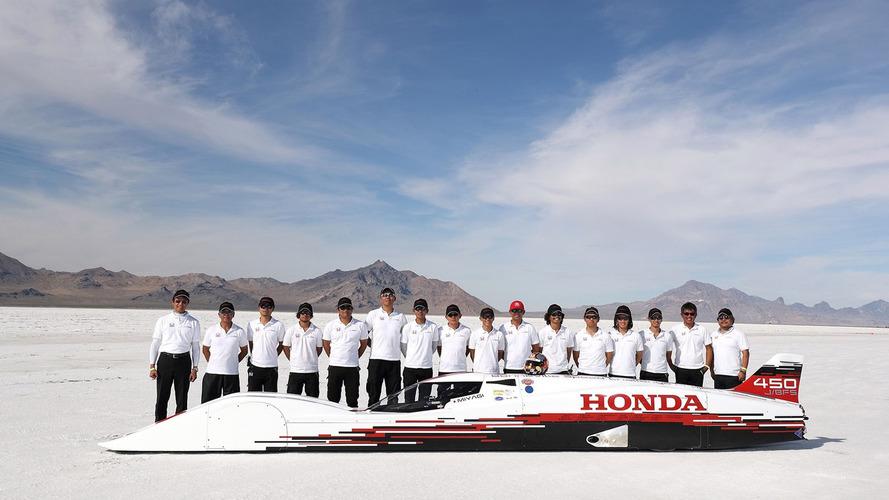 Fastest Honda ever goes over 260 mph on Bonneville salt flats
