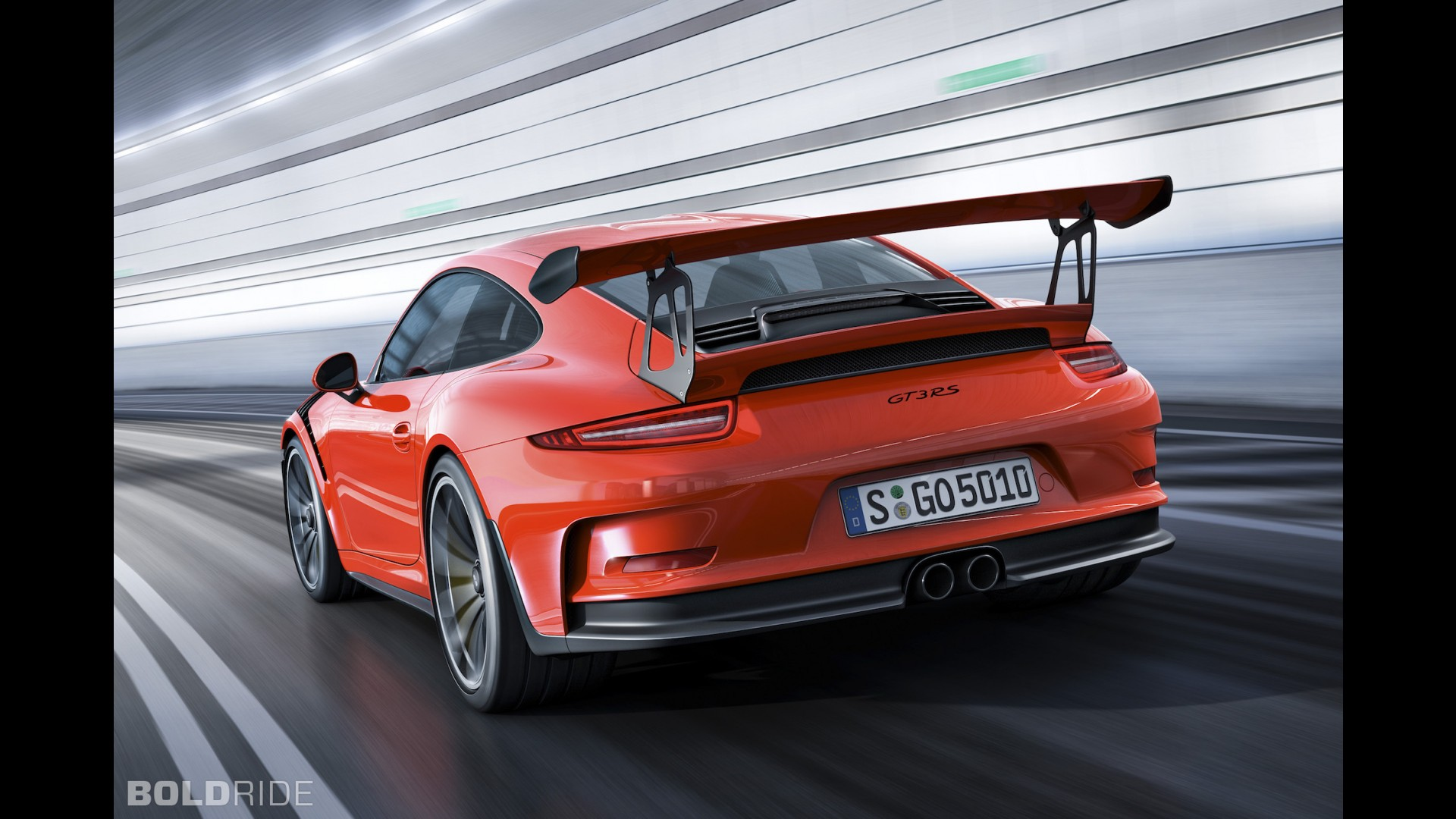 Оранжевый Porsche 911 GT3 RS