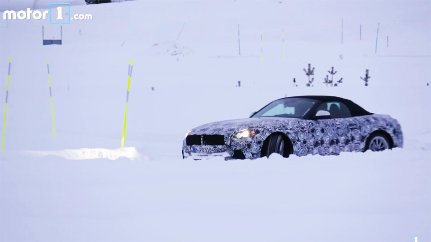 BMW engineer in Z5 prototype spied doing drifts and donuts  in the snow