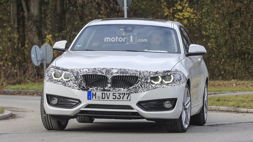 2018 BMW 2 Series Coupe facelift spy photos