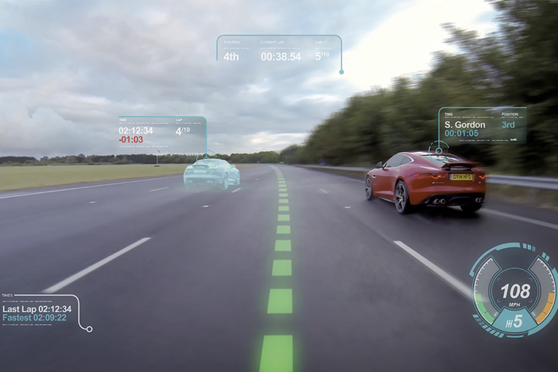 The Jaguar Virtual Windscreen Brings Videogame Tech into the Car [Video]