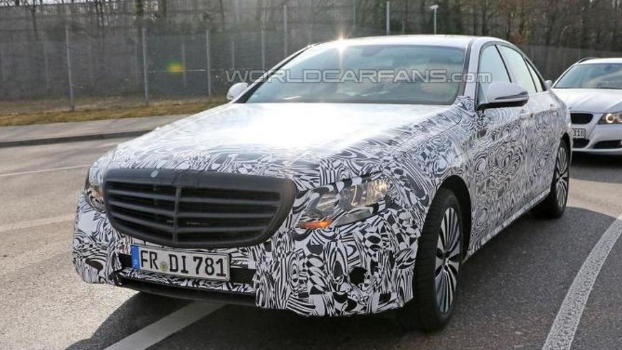 Next-gen Mercedes E-Class spied with heavy camo in Germany