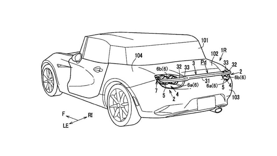 Mazda arka farlara sokulan hareketli kanadın patentini aldı
