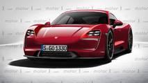 Porsche Mission E 2020 render