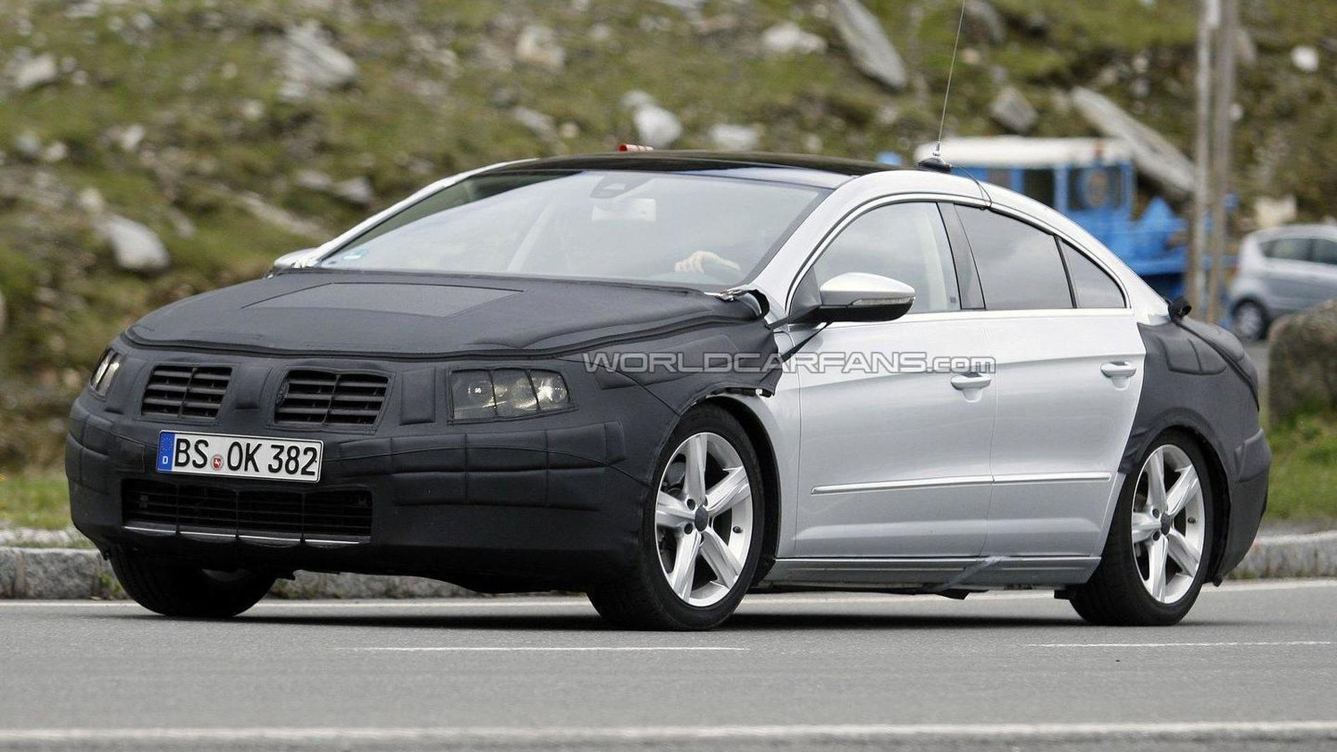 2012 volkswagen passat cc facelift spied. Black Bedroom Furniture Sets. Home Design Ideas