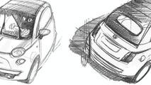 Fiat 500C Teaser Sketch
