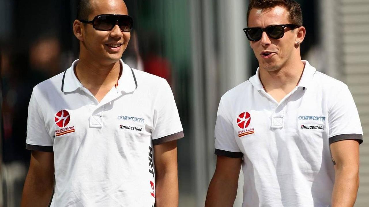 Sakon Yamamoto (JPN), Christian Klien (AUT), Hispania Racing F1 Team, HRT - Formula 1 World Championship, Rd 9, European Grand Prix, 25.06.2010 Valencia, Spain