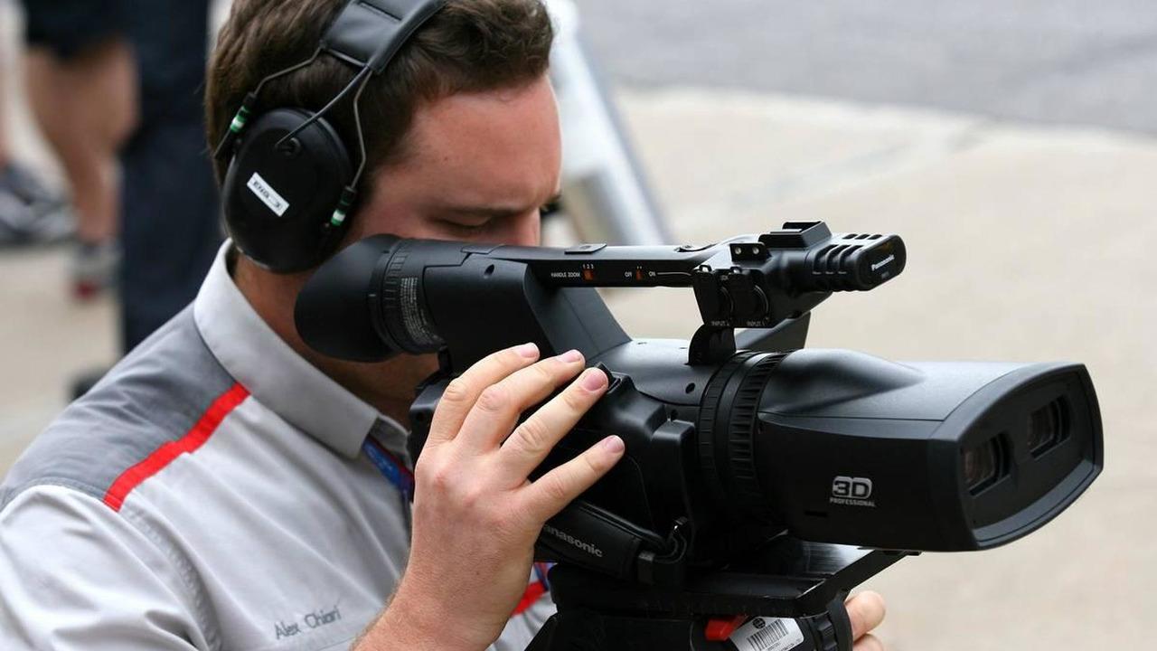 A TV camera man with a 3D camera, Canadian Grand Prix, 12.06.2010 Montreal, Canada