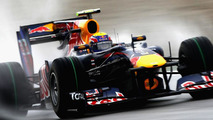 Mark Webber sporting Red Bull's revised front wing at Hockeheim