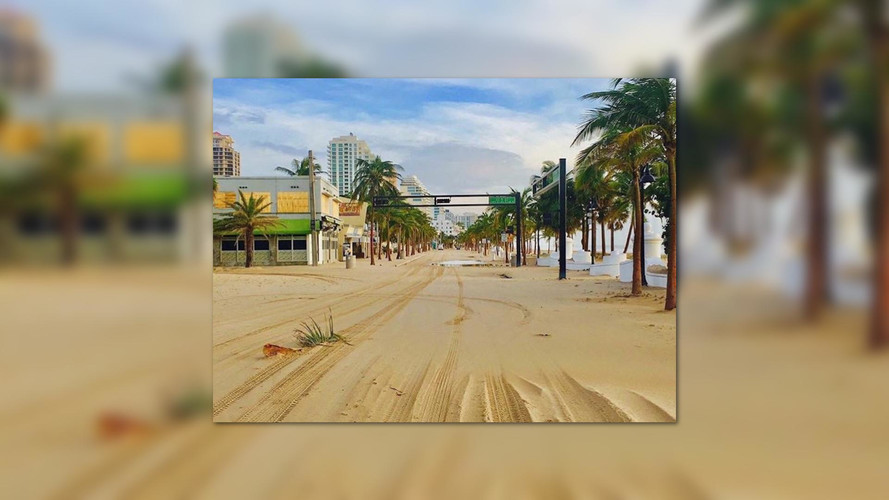 Hurricane Irma Turned A Florida State Road Into A Beach