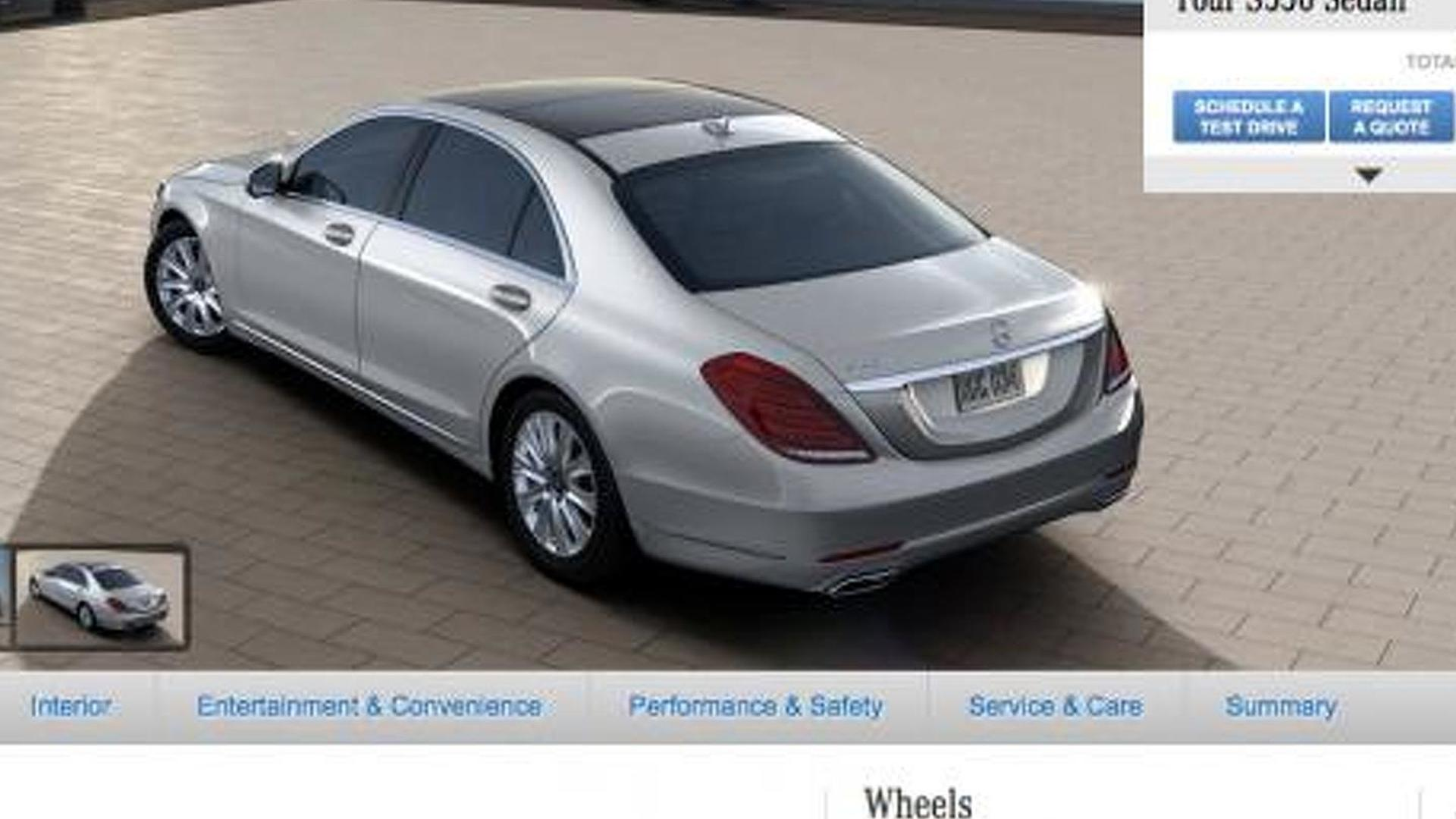 2014 mercedes benz s class configurator now live