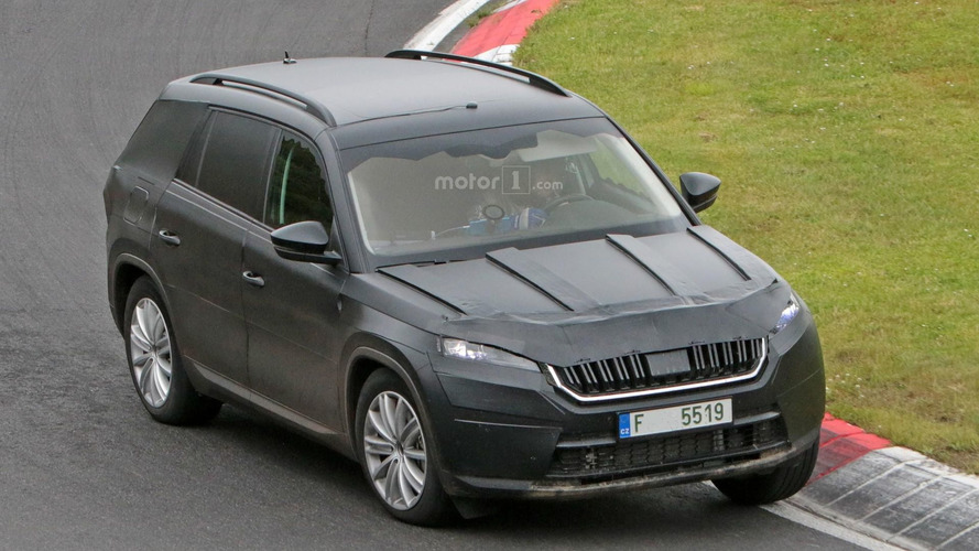 Seven-seat Skoda Kodiaq SUV pushed hard around the Ring