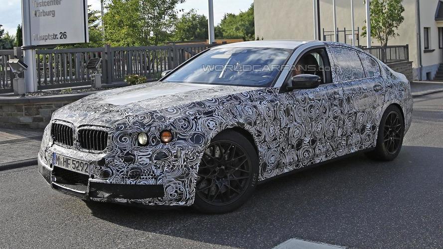 Next-gen M5 spied returning to the BMW M test center