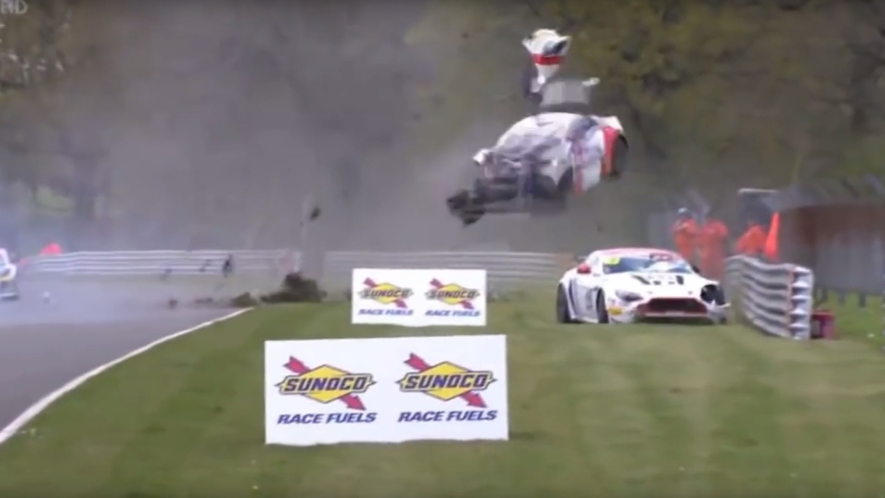 Huge crash during British GT at Brands Hatch