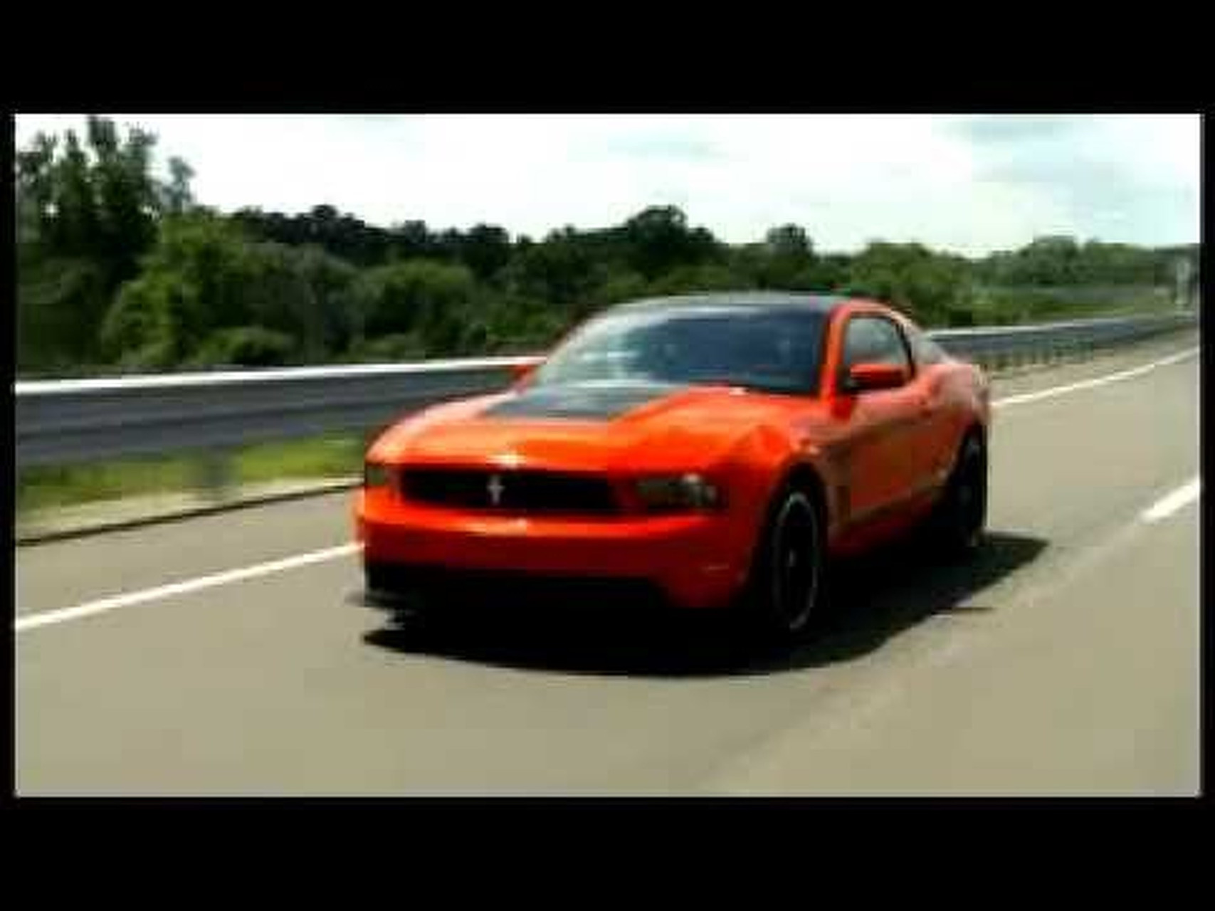 2012 Mustang Boss 302 Driving Footage