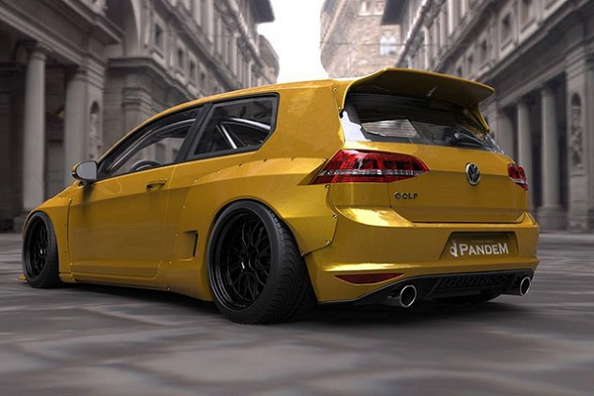 "Mk 7 Volkswagen Golf Gets ""Rocket Bunny"" Tuner Treatment"