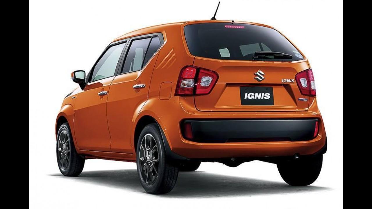 Suzuki Ignis volta ao mercado na pele de SUV compacto com motor 1.0 turbo