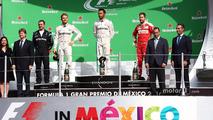 Podium- race winner Lewis Hamilton, Mercedes AMG F1, second place Nico Rosberg, Mercedes AMG F1, third place Sebastian Vettel, Ferrari
