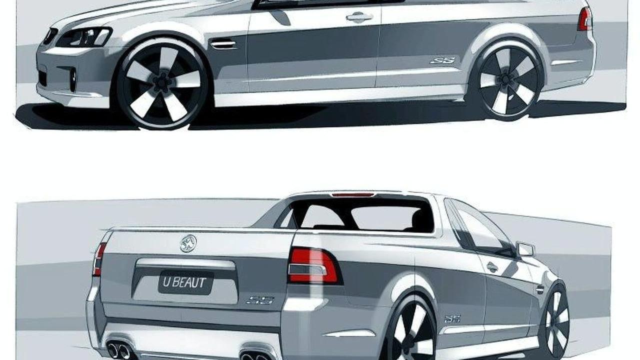 Holden VE Ute design sketches