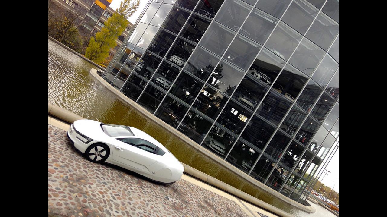 Volkswange XL1, la prova a Wolfsburg