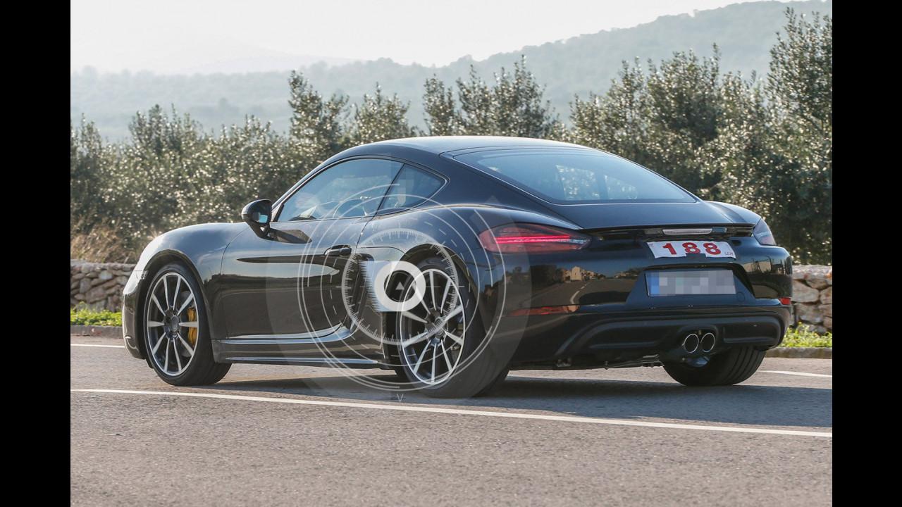 Porsche Cayman restyling, le foto spia
