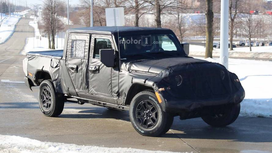 Jeep Scrambler Pickup Spied On The Streets Near FCA HQ
