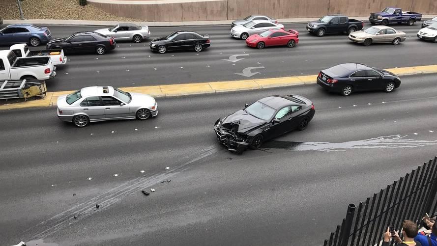 Tesztvezetésen zúztak le egy M6-os BMW-t a CES-en