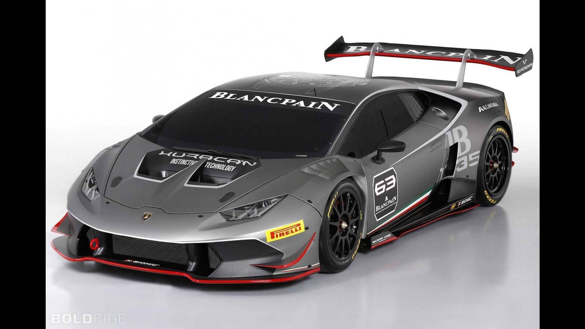 Гоночная Lamborghini Huracan LP 620-2 Super Trofeo