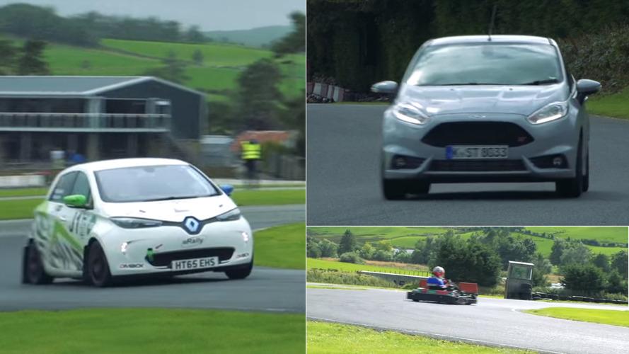 D'un karting, d'une Fiesta ST ou d'une Zoé, qui est le plus rapide ?