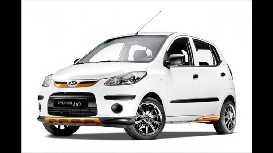 Freche Sonder-Hyundai: i10 Expression und i20 Active