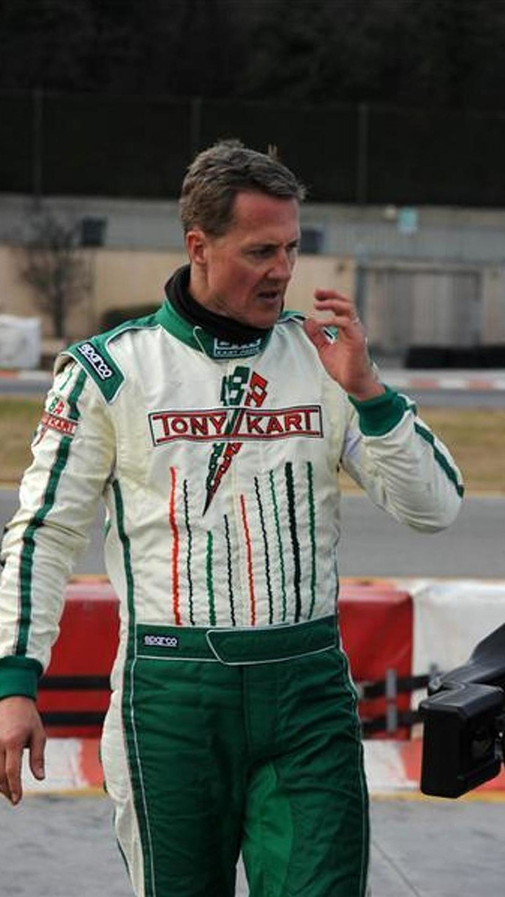 Michael Schumacher first test session with Tony Kart KZ class team at Lonato 23.01.2013