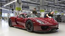 Porsche finalizes 918 Spyder production