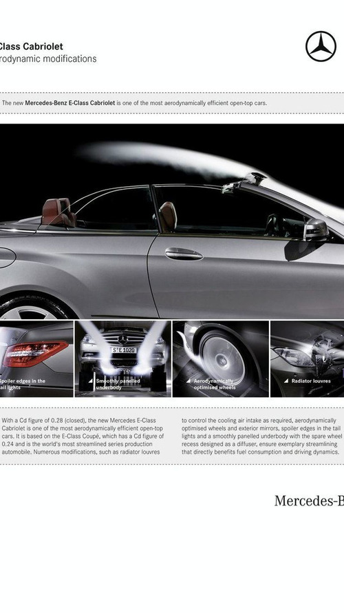 Mercedes-Benz E-Class Convertible Details and Photos Released