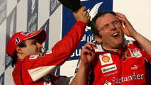 Fernando Alonso (ESP), Scuderia Ferrari and Stefano Domenicali (ITA), Scuderia Ferrari Sporting Director, Bahrain Grand Prix, 14.03.2010 Sakhir, Bahrain