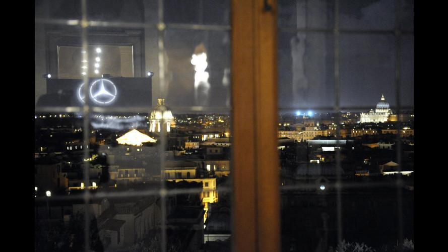 Mercedes in passerella da Berlino a Roma