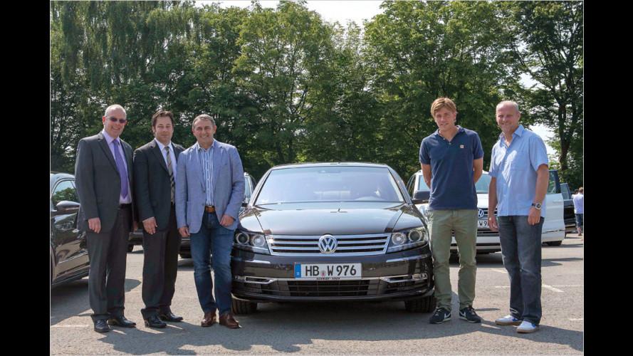 Bundesligist erhält Dienstwagen aus Wolfsburg