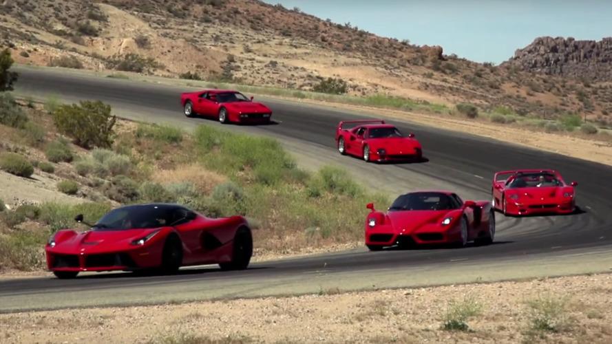 VIDÉO - 5 Ferrari d'exception rassemblées sur circuit !