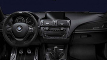 BMW 1 Series, BMW M Performance steering wheel alcantara with carbon fiber cover and race display 17.02.2012