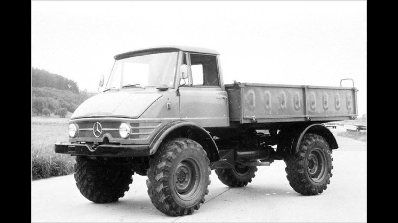 Erster Unimog mit Dieselmotor