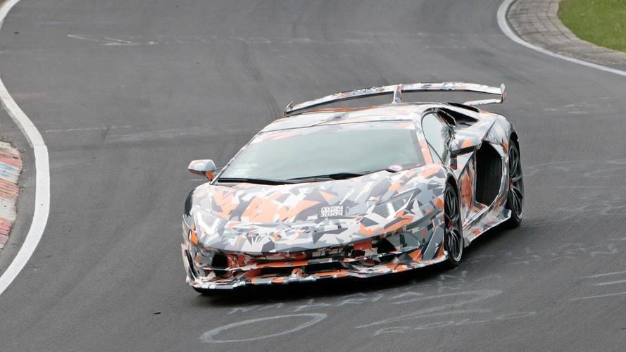 2019 Lamborghini Aventador SV Jota new spy photos